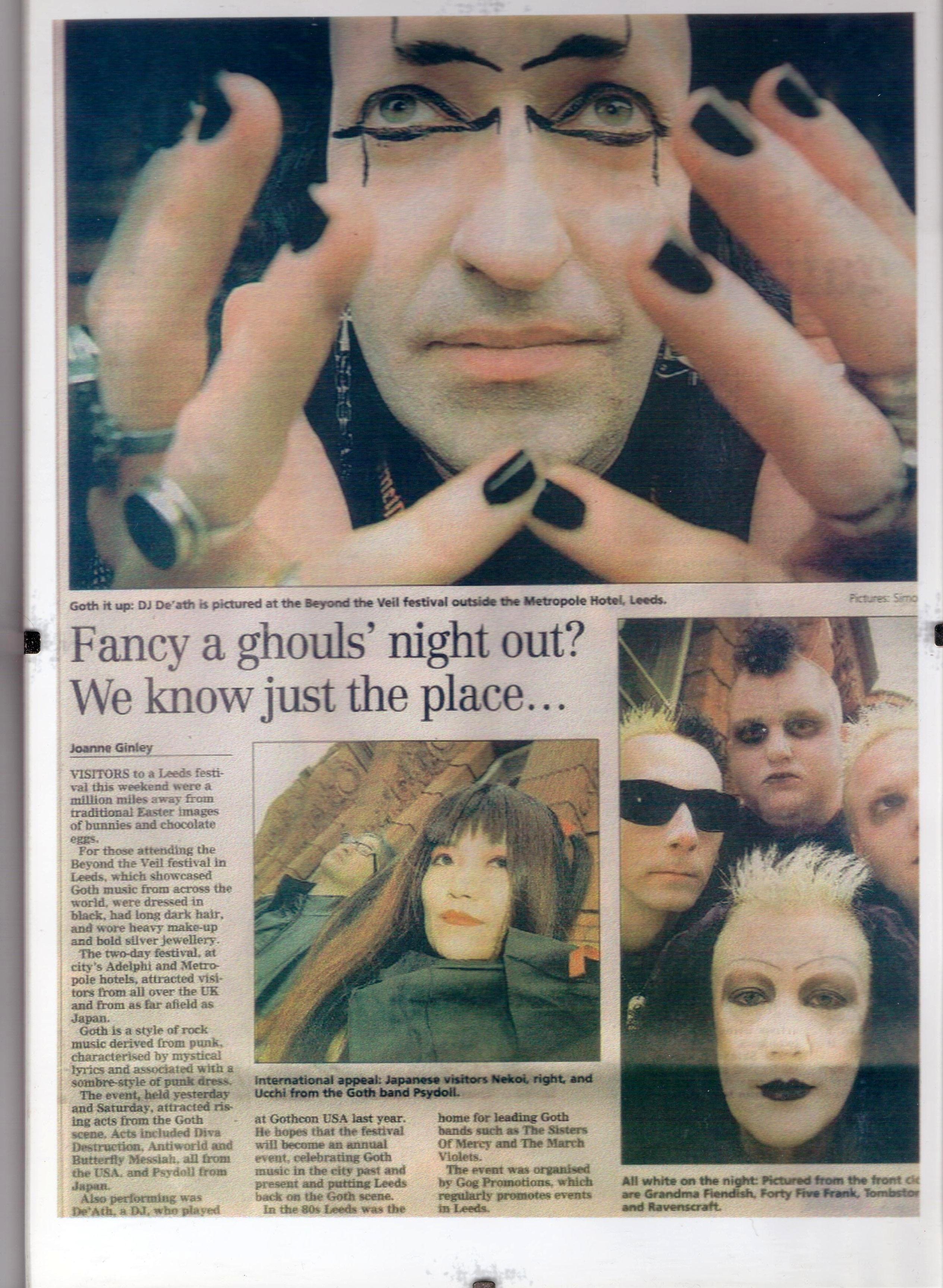 Beyond The Veil 2003 festival YEP feature