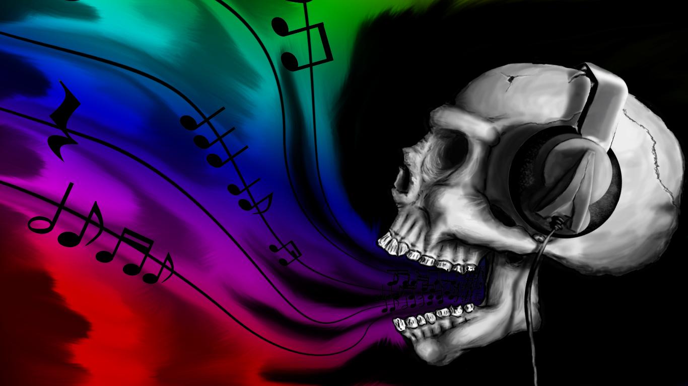 headphones-skulls